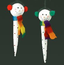 Icicle Snowman Ornament from styrofoamcrafts.com