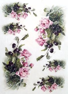 Rice Paper for Decoupage Scrapbooking Sheet Craft Vintage Garden Flowers 1/8 | eBay