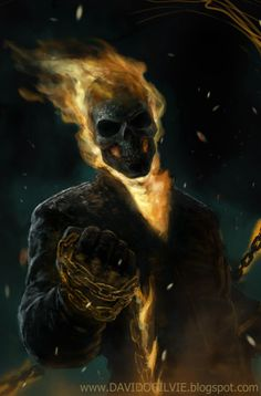 Ghost Rider by ogilvie on DeviantArt Ghost Rider Wallpaper, Skull Wallpaper, Marvel Comic Character, Marvel Characters, Rauch Tapete, Gost Rider, Marvel Art, Ms Marvel, Captain Marvel