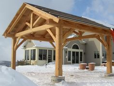Timber Frame Pergolas & Pavilions | New Energy Works
