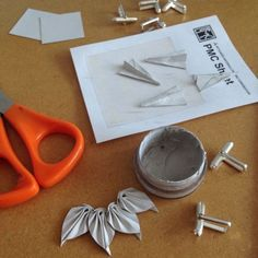 Folding Precious Metal Clay charms and securing with slip clay