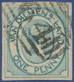 The first stamp of Tasmania 1853 pale blue in a wonderful copy Hobart… Old Stamps, Rare Stamps, Map Crafts, Letter A Crafts, Van Diemen's Land, Queen Vic, King George, Tasmania, Digital Collage
