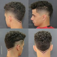 Men's Hair, Haircuts, Fade Haircuts, short, medium, long, buzzed, side part, long top, short sides, hair style, hairstyle, haircut, hair color, slick back, men's hair trends, disconnected, undercut, pompadour, quaff, shaved, hard part, high and tight, Mohawk, trends, nape shaved, hair art, comb over, faux hawk, high fade, retro, vintage, skull fade, spiky, slick, crew cut, zero fade, pomp, ivy league, bald fade, razor, spike, barber, bowl cut, 2018, hair trend 2017, men, women, girl, boy Undercut Hairstyles Women, Cool Hairstyles For Men, Men's Hair, Hair Art, Curly Hair Cuts, Curly Hair Styles, Natural Hair Mohawk, Shaved Hair Designs, Men Hair Color