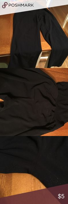 """Maternity dress pants Black Oh baby maternity dress pants by Motherhood. Worn during two pregnancies when needed and in very good condition. Some pilling in the crotch area. From waist to end of pant leg it measures 39"""" the stretchy part that covers the belly measures 8.5"""" but defense stretches more to cover a very pregnant belly. I wore when I was 9 months pregnant. Pants Trousers"""