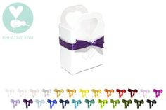 WEDDING FAVOUR BOXES with RIBBON - HEART BASKET
