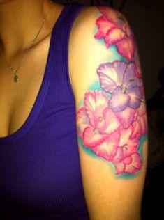 pink & purple gladiolus