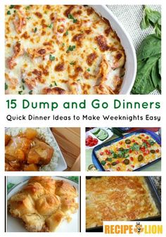 15 Dump & Go Dinners: Quick Dinner Ideas to Make Weeknights Easy - Whether you're looking for an easy casserole recipe or a slow cooker main dish, you'll find something both quick and easy in our collection of dump and go dinners.