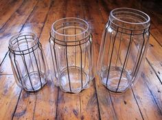Glass hurricane jar