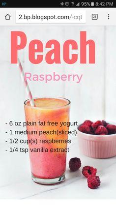 Peach Raspberry Smoothie