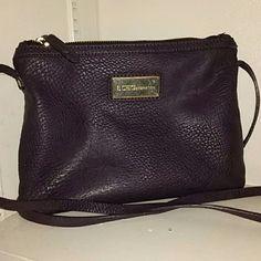 BCBG Cross-Body Handbag Plum purple; Gold plate has stratches from wear BCBG Bags Crossbody Bags
