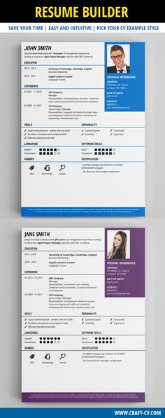 Classic CV Example #cv #resumesamples #creativecv Creative CV - free resume builder that i can save