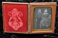 Daguerreotype of arm-in-arm brother & sister holding doll, 1/4 plate . in Collectibles, Photographic Images, Vintage & Antique (Pre-1940), Daguerreotypes | eBay