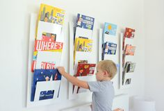 Books make the best wall art. This Ikea hack provides more storage for books, and it looks awesome. Ikea Furniture Hacks, Kids Furniture, Luxury Furniture, Kids Play Spaces, Kids Rooms, Boy And Girl Shared Bedroom, Playroom Organization, Organizing, Book Racks