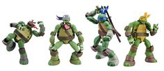 The only bad news about the new highly-articulated Revoltech TMNT figures with swappable heads is that they'll probably be at least $50 each. Check out a large galley of the figures below: