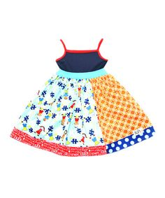 Look what I found on #zulily! Orange & Blue Autism Awareness Dress - Infant, Toddler & Girls #zulilyfinds