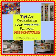 10 Tips for Organizing Your Homeschool Room for Preschoolers | Hip Homeschool Moms