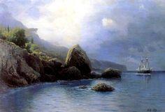 Lev Lagorio - Coast of the sea (1899) (different colors)