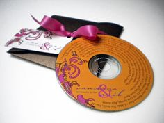 Wedding favors - the bride and groom's favorite songs
