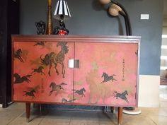 Rare Oriental MCM Cocktail Cabinet