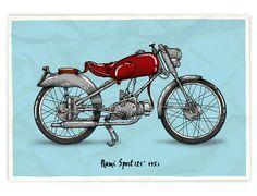 Illustrations of 'Legendary' Vintage Motorcycle by Anton Gorbunov Inazuma Cafe Racer, Cafe Racer Helmet, Triumph Cafe Racer, Cafe Racer Bikes, Cafe Racer Style, Cafe Racer Girl, Cafe Racer Build, Cafe Racer Motorcycle, Motorcycle Design