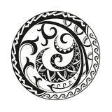 Circular composition of the ornaments in the style of the Maori Royalty Free Stock Photography Polynesian Tattoos Women, Polynesian Tattoo Designs, Polynesian Tribal, Maori Tattoo Designs, Geometric Mandala, Geometric Circle, Coconut Vector, Mandala Stencils, Mayan Symbols