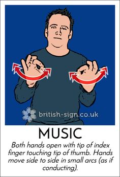 Today's #BritishSignLanguage sign is: MUSIC #SaxophoneDay