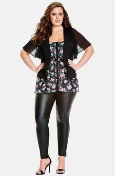 464cfc6d7f5 Plus Size  Floaty Sleeve  Jacket Fashion Tips