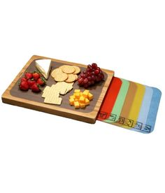Let your inner chef come alive with Seville Classics' Bamboo Cutting Board and 7 Color-Coded Flexible Cutting Mats with Food Icons. Bamboo is a renewable, fast-growing, and hardy material that is stronger, more sustainable and easier on knives than h Best Cutting Board, Bamboo Cutting Board, Cutting Boards, Bamboo Board, Chopping Boards, Unique Gifts, Best Gifts, Bamboo Construction, Buy Bamboo