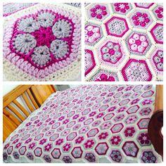 #African_flower #crochet #blanket