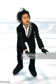 Koshiro Shimada of Japan skates skates during the junior men short dance of the ISU Junior Grand Prix at Dom Sportova on October 8, 2015 in Zagreb, Croatia.