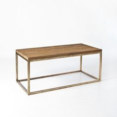 Plankton Wood and Silver Leaf Coffee Table