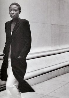 """ankosv: """" let it rain, lorraine pascale by peter lindbergh for harper's bazaar us february 1994 """""""