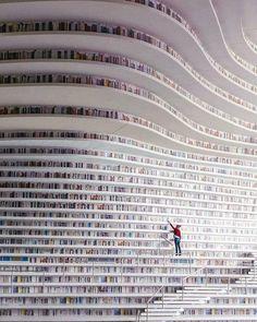 Tianjin Binhai Library Design By MVRDV + Tianjin Urban Planning and Design Institute Photo by Ossip van Duivenbode architecture