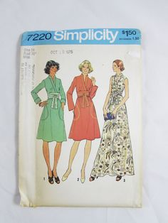Vintage Simplicity Pattern 7220 Woman's Dress- Uncut by NeedleandFoot on Etsy