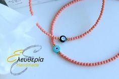 Βραχιόλια κοράλλι Beaded Necklace, Handmade, Jewelry, Beaded Collar, Hand Made, Jewlery, Pearl Necklace, Jewerly, Schmuck