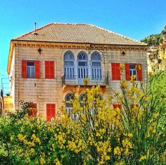 Douma lebanon Architecture, Exterior, Lebanon, Traditional Architecture, Architect, Traditional Windows, House Styles, House Design, Old Houses