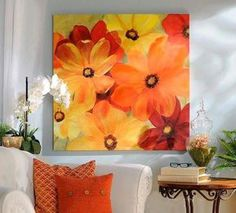 Shop unique canvas art at Kirkland's! Uncover our handpicked selection of canvas prints and canvas wall art and curate your own gallery. Canvas Art Prints, Canvas Wall Art, Great Works Of Art, Flower Canvas, Painting Inspiration, Wall Art Decor, Framed Art, Living Room, Bright Colors