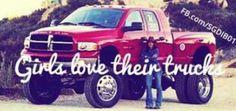Girls love their trucks!