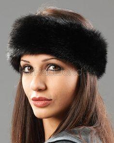 Mink Headband - Black