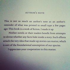john green's author's note
