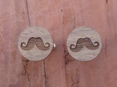 Moustache Cufflinks Father's Day Gift by BezalelArtShop on Etsy