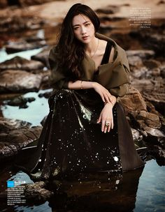Elle Korea  Title: Woman in Nature  Model: Tang Wei  Photographer: Zo Sun Hi  September 2014