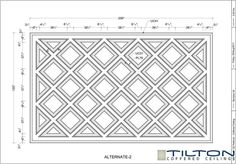 Coffered Ceiling Design Drawing - Diagonal 05