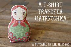 Make a t-shirt transfer doll via lilblueboo.com