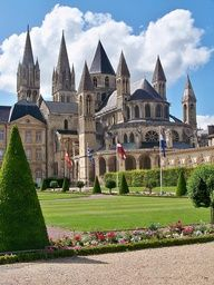 The Abbaye aux Hommes, Caen founded by William the Conqueror – France