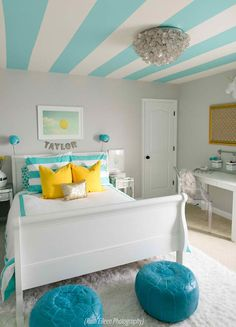 A Turquoise Tween Bedroom