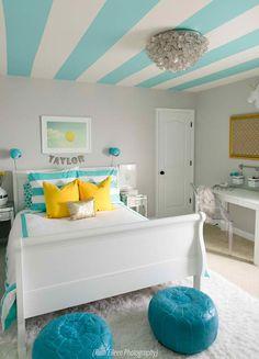 A Turquoise Tween Bedroom