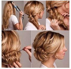 Fish tail hair style
