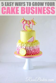 5 Easy Ways to Grow Your Cake Business and Get More Customers by Rose Bakes Home Bakery Business, Baking Business, Cake Business, Business Ideas, Business Logo, Catering Business, Business Planner, Birthday Desserts, Happy Birthday Cakes