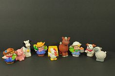 Fisher Price Little People Farmers with Animals Lot of 10